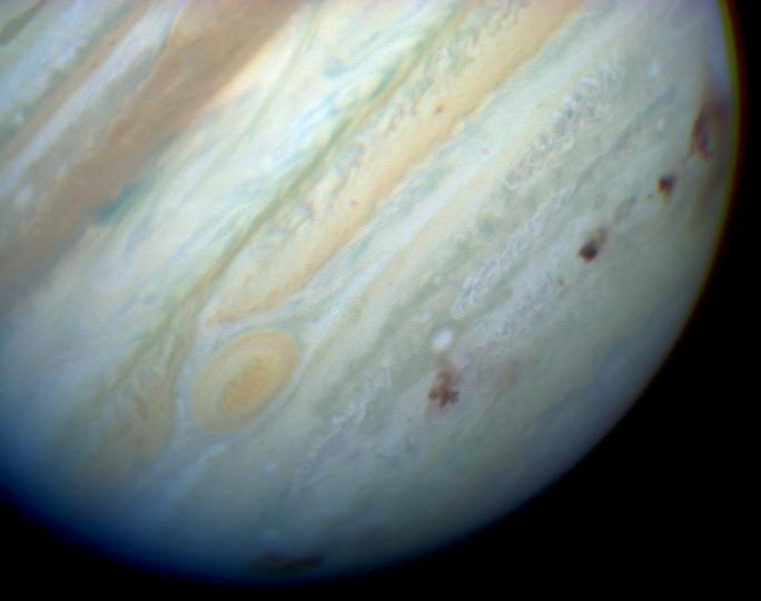 И последиците за Юпитер, след като са привлечени фрагментите от него.